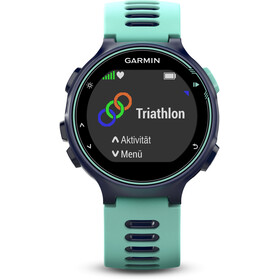 Garmin Forerunner 735XT Running Clock incl. Premium HRM chest belt Run, frost/blue